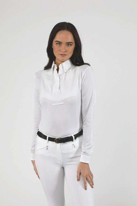 Shires Shires Aubrion Ladies Long Sleeve Tie Shirt - All Colours