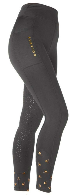 Shires Shires Aubrion Maids Porter Winter Riding Tights - Black