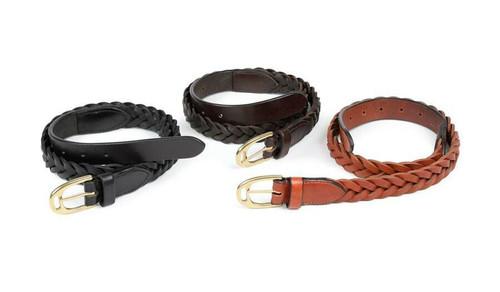 Shires Shires Aubrion Plaited Leather Belt - All Colours