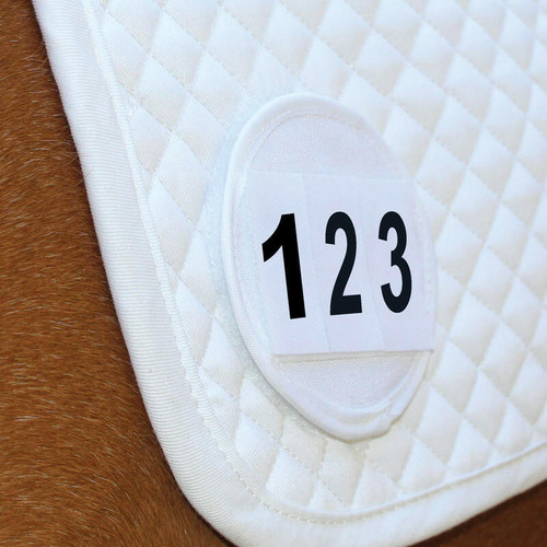 Equetech Equetech Saddle Pad Number Discs - White Pair