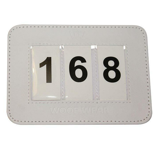 Woof Wear Woof Wear Competiton Number Holder - White