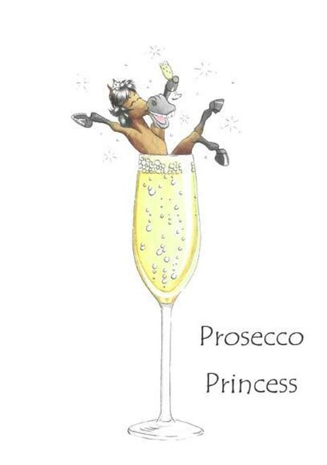 Trish Williams Trish Williams Prosecco Princess Greeting Card