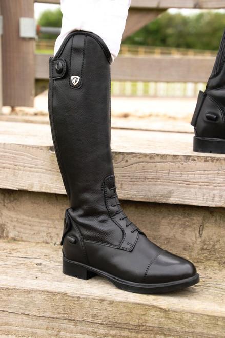 Hy Hy Scarlino Childrens Long Riding Boots - Black