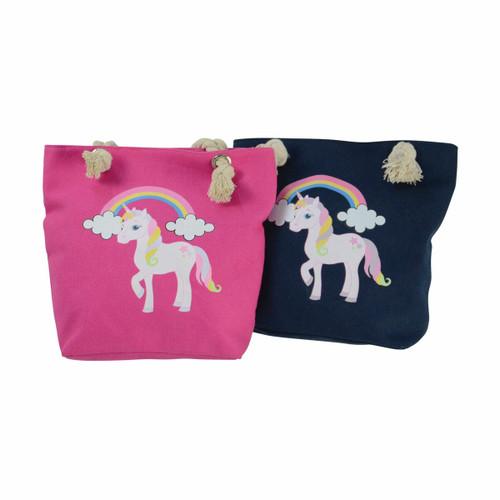 Hy Hy Unicorn Tote Bag - Blue or Pink