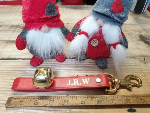 Frome Saddlery Hand Made Personalised Christmas Clip on Strap with Bells