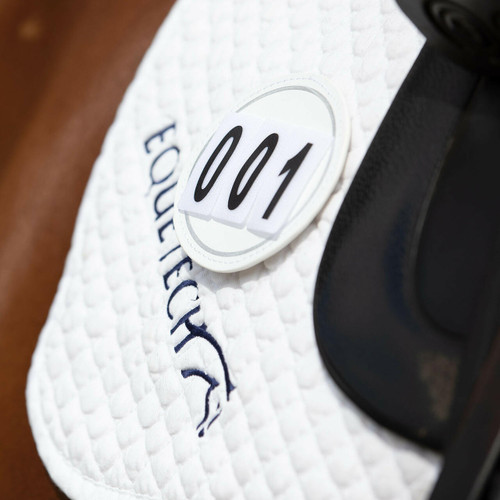 Equetech Equetech Deluxe Saddle Pad Number Discs - White Pair