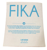 Blue Fika Swedish Dishcloth