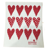 Red Hearts Swedish Dishcloth