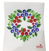 Berry Wreath Swedish Dishcloth