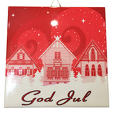 God Jul House Tile