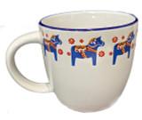 Dala Horse Bistro Mug (blue)