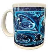 Winter Rosemaling Coffee Mug