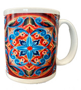 Norwegian Folk Art Sunburst Coffee Mug
