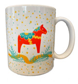 Dala Horse Stars and Pine Coffee Mug