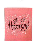 Sip Sip Hooray Swedish Dishcloth