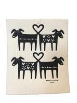 Dog Love Swedish Dishcloth