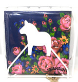 Folding White Dala Horse Napkin Holder