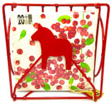 Folding Red Dala Horse Napkin Holder