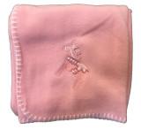 Swedish Dala Horse Baby Blanket (pink)