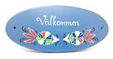 Välkommen Flower Folk Art Sign