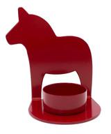 Red Dala Horse Tea Light