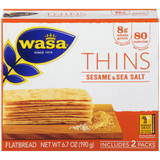 Wasa Sesame & Sea Salt Thins Crackers
