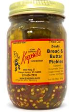 Koepsel's Zesty Bread & Butter Pickles