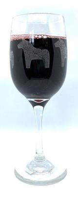 Dala Horse Wine Glass