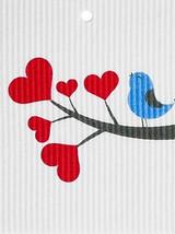 Love Bird Swedish Dishcloth