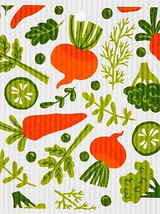 Mixed Vegetables Swedish Dishcloth
