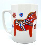 Red Dala Horse Mug
