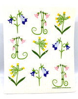 Swedish Wildflowers Swedish Dishcloth