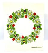 Summer Wreath Swedish Dishcloth