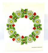 Summer Wreath Swedish Dishcloth