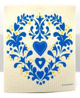 Swedish Heart Swedish Dishcloth