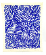 Blue Woven Thread Swedish Dishcloth