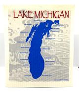 Lake Michigan Swedish Dishcloth