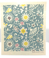 Pastel Floral Swedish Dishcloth