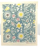 Pastel Floral Swedish Dishcloth