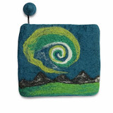 Northern Lights Felted Coin Purse