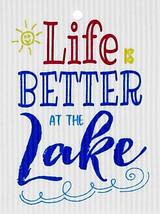 Better at the Lake Swedish Dishcloth