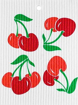 Cherries Swedish Dishcloth
