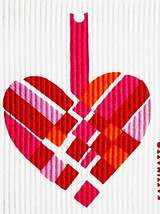 Pastel Woven Heart Swedish Dishcloth