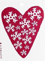 Snowflake Heart Swedsih Dishcloth