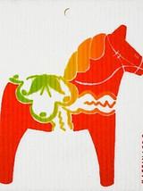 Neon Dala Horse Swedish Dishcloth