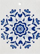 Blue Floral Swedish Dishcloth