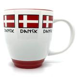 Danish Flag Bistro Mug