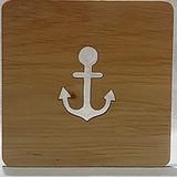 Anchor Wood Coaster