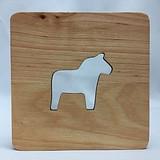 Dala Horse Wood Coaster