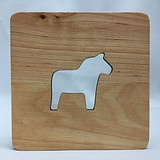 Dala Horse Wood Coaster